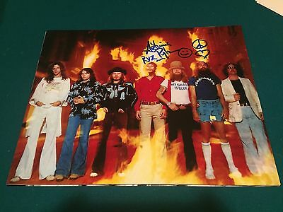 Artimus Pyle Lynyrd Skynyrd Signed Autographed 11x14 Survivors Pic w Inscription