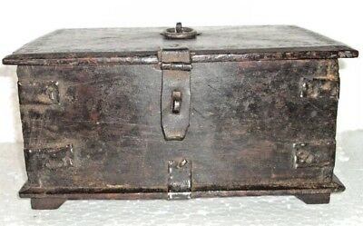 Old Wooden Box Vanity Box Travelling Multi Purpose 2 compartment