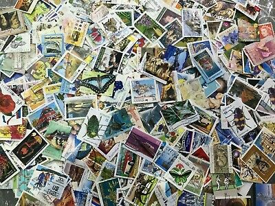Kiloware 1000 Used Australian OFF paper stamps BULK