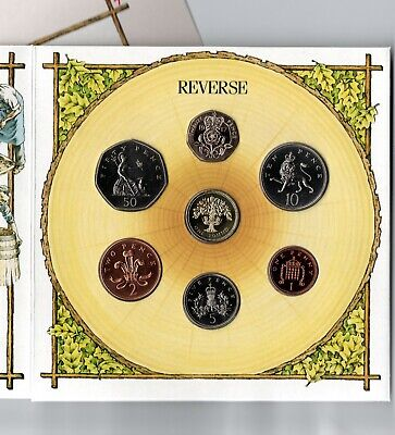 1987 United Kingdom Royal Mint Year Coin Set Collection Brilliant UNC