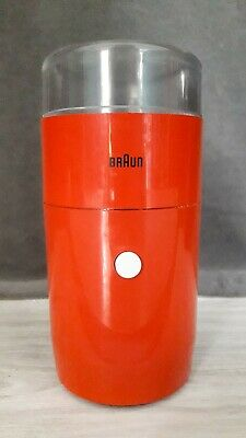 BRAUN Kaffeemühle, Modell KSM 1 G in Orange, 60er Jahre Design