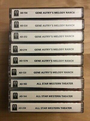 Otr - Gene Autry's Melody Ranch & All Star Western Theater - 9 Cassette/18 Shows