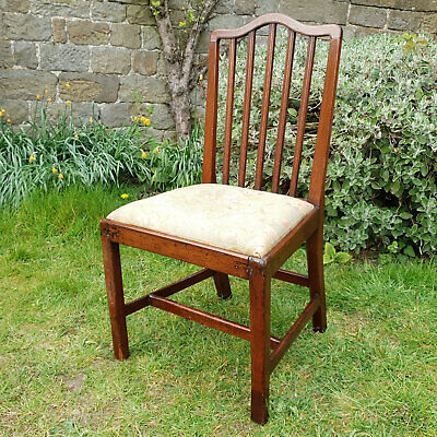 George III Sheraton Upholstered Mahogany Side Chair C1800 (Dining Desk)