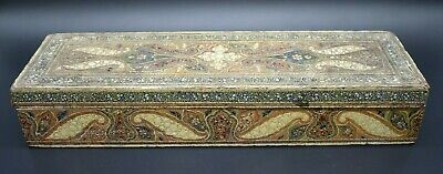 Antique Italian decorated wooden box