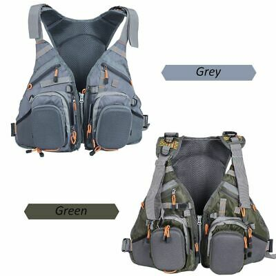 Lixada 3 In 1 Mesh Fly Fishing Vest and Backpack Breathable Life Jacket E0P1