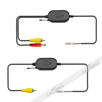 Wireless Transmitter + Receiver Kits For Car Reverse Rear View Camera & Monitor