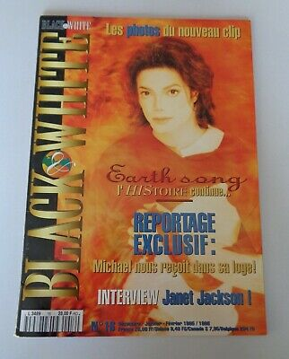 Michael Jackson Black & White Magazine No. 16 - Includes Pull Out Poster  French