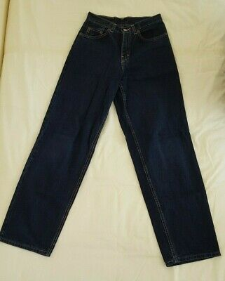 "M&S Marks & Spencer Boys' Navy Blue Jeans Trousers Age 12 Waist 26"" / Leg 29.5"""