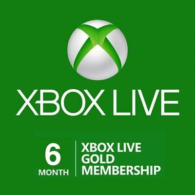 ⭐️ Instant Code ⭐️ 6 Month Xbox Live Gold Membership Xbox One 360 Region Free ⭐️