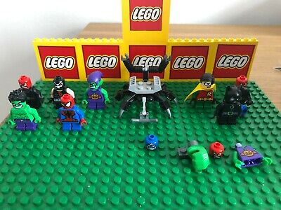 LEGO 8 MIGHTY MICRO minifigures bundle MARVEL & DC bane robin hulk spider-man