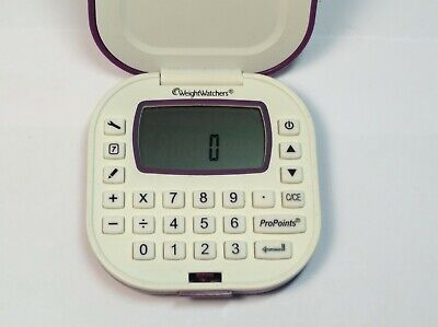 USED Weight Watchers Points Calculator Purple and White Battery Included Tested