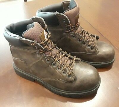 415a8e2ba10 BRAHMA RAID MEN'S Size 6.5 Work Boots with Anti-fatigue Footbed Steel Toes  Brown