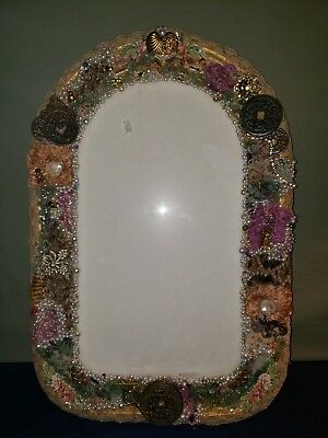 Antique Shabby Unbelievable Convex Glass Frame