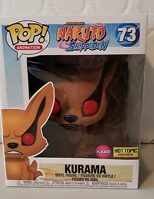 Funko Pop Animation #73 Flocked Kurama Naruto Shippuden Hot Topic Exclusive-NIB
