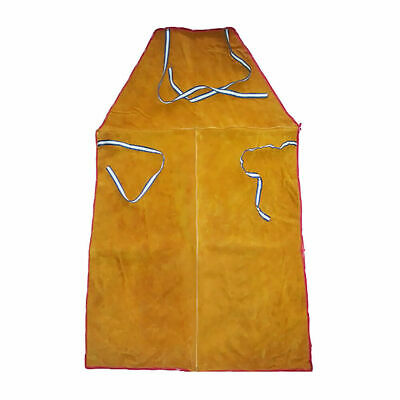 CN_ Full Length Leather  Fire Resistant Blacksmith Woodworking Welders Apron