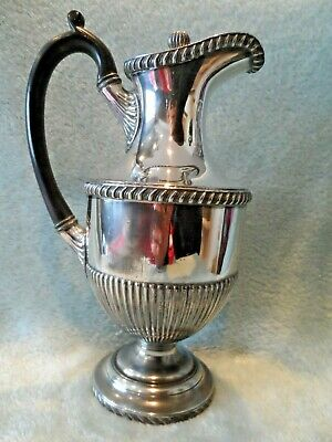 "Vintage / Antique Heavy Silver Plated Fluted 10"" Claret Jug Lovely Condition"