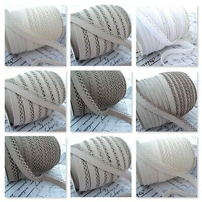 Picot Lace Edge Plain Bias Binding Trim Crochet Edging Dressmakin Vanilla 14