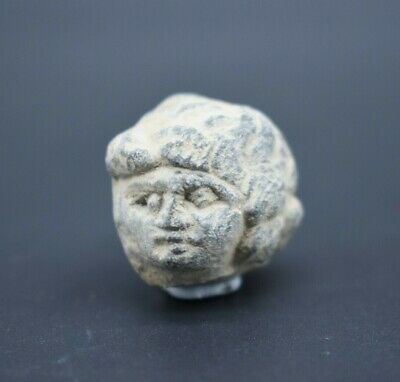 Ancient Gandharan stone head fragment 2nd - 1st mil BC