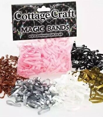 Cottage Craft SILVER Magic Plaiting Bands - Pack Of 500 - Super Stretchy