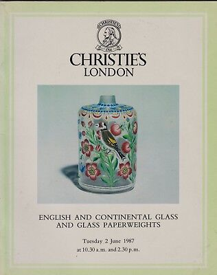 English & Continental Glass & Glass Paperweights Auction Catalogue