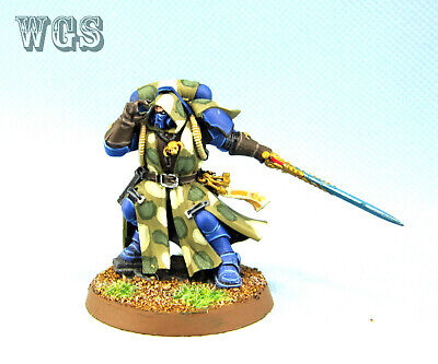 Warhammer 40K WGS painted Space Marine Librarian in Phobos Armour SM063