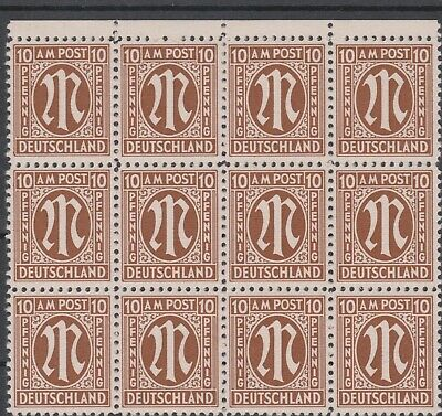 Germany - Allied Occ SG A6 NHM Block 12 with varieties