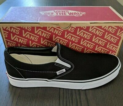 a67c1538f9 VANS VN-0EYEBLK  CLASSIC Slip-on Black White Canvas Mens -  28.00 ...