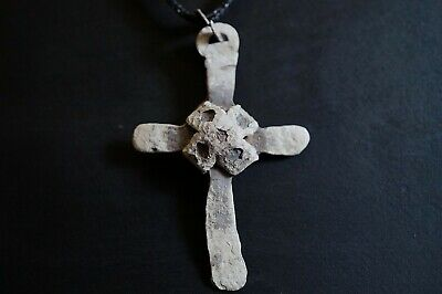 Ancient Viking Hammered Silver Cross. Norse Amulet Pendant, c 950-1000 AD Rare.
