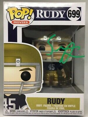 Sean Astin Signed Autographed Rudy Notre Dame Funko Pop Vinyl #699 w/EXACT PROOF