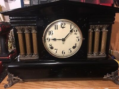 Antique WM. L. Gilbert Clock Co. Cleburne Mantel Clock Mechanical Movement