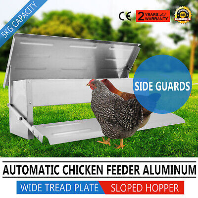 5.0kg Automatic Auto Treadle Self Opening Aluminium Chicken Feeder Chook Poultry