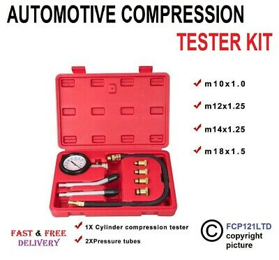 Automotive Tester Kit Gauge Pro Petrol Valve Engine Compression Timing Cylinder
