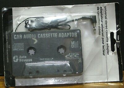 Universal Stereo Car Audio Cassette Adapter - New on Card - Greenbrier