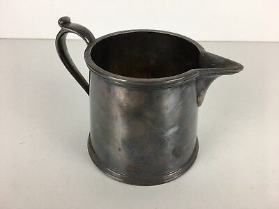 Vintage Antique Silver Plate W&H S Milk Jug Pot 10cm