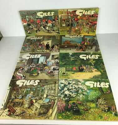 Vintage Giles Annuals Cartoon Daily Express Books Bundle 30-44