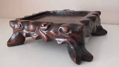 Antique Chinese Hardwood Stand / Qing Dynasty (1644-1911) / Original