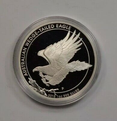 2015 1oz.Proof Silver Wedge Tailed Eagle High Relief w Original Mint Packaging.