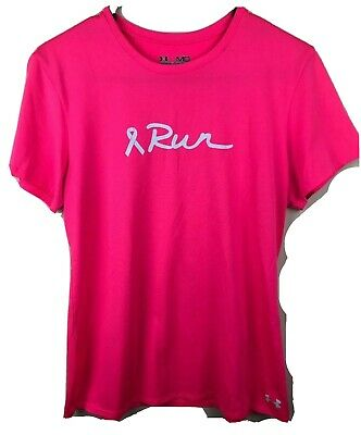 Under Armour Women's Heat Gear Pink Breast Cancer Shirt Size Medium