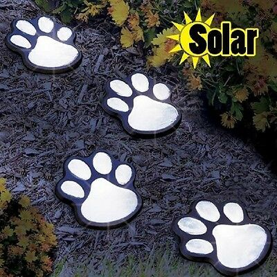 Garden Solar LED Lights Patio Yard Lawn Decor Night Statue Figurine Cat Dog Pets