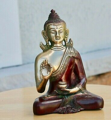 Antique meditating Large Buddha Statue ancient VTG mid century modern statue