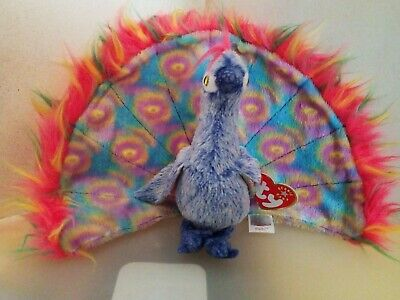 8966f84fe72 TY BEANIE BABY ~ FLASHY the PEACOCK ~ Plush Stuffed ~ 7