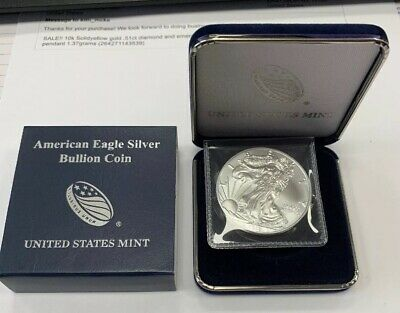 2018 ~ AMERICAN SILVER EAGLE DOLLAR ~ BU With Presentation Box!