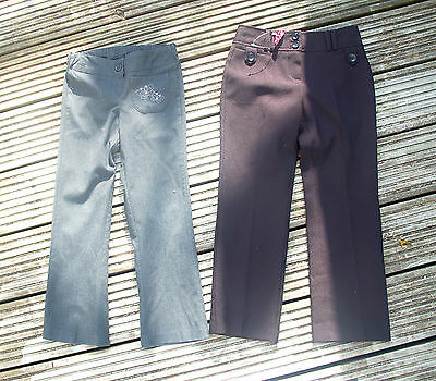 M&S & NEW Evie girl  black & grey school trousers  2 PAIRS  girl 6-6.5yrs