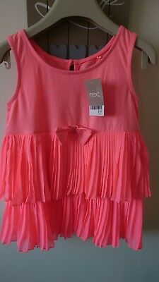 Next girl summer party holiday top tunic 5-6 years BNWT