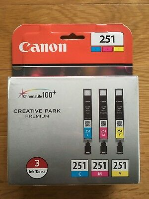 Genuine Canon 251 ChromaLife 100+ TriColor(Cyan,Magenta,Yellow) Ink - New Sealed