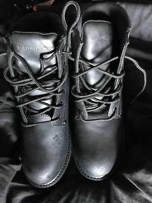 b86a57d72c7 MEN'S CHINOOK OIL RIGGER Black Leather STEEL TOE Work Safety Boots NEW SIZE  10.5