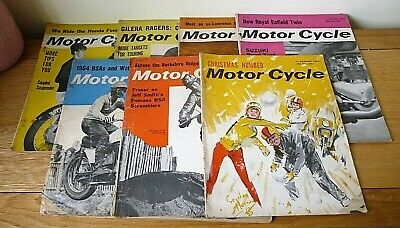 Motor Cycle x 7 Magazines - Various 1962 to 1963 - Vintage - Collectables