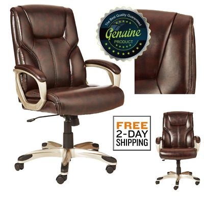 Office Chair High-Back Leather Executive Heavy Duty Big Tall Style Ergonomic
