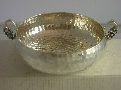 Very Attractive 925 Hallmark Silver Small Spot Hammered Bowl 212 grams Greek