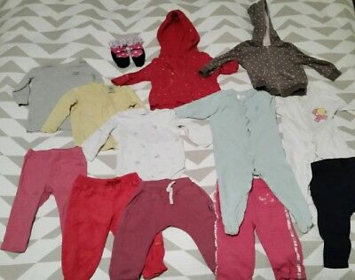 Pre-loved baby Girls clothes winter bundle size 6-12 months